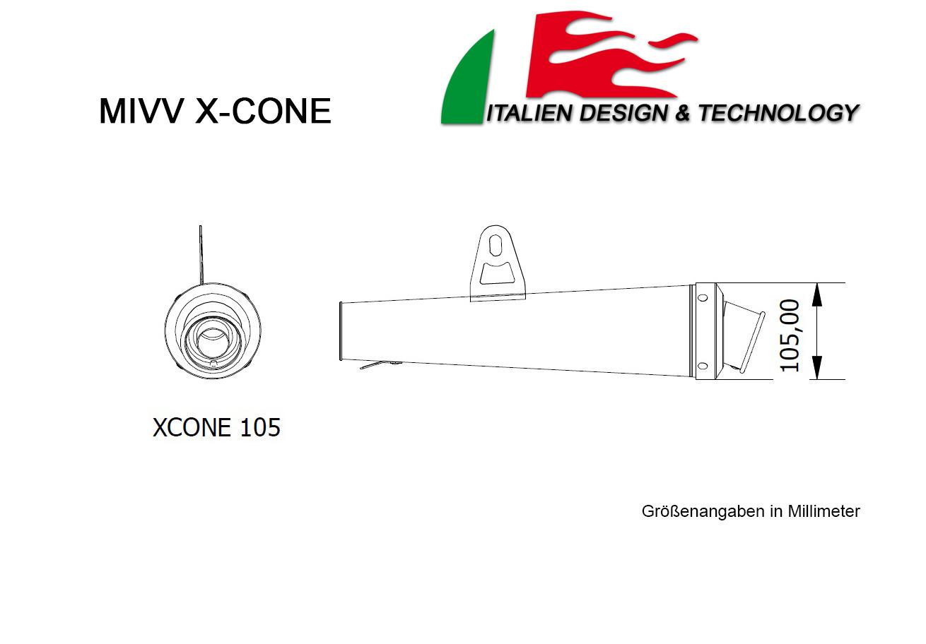 MIVV Aprilia X-Cone TUONO Fighter 1000 Auspuff ab 2005 bis 2010