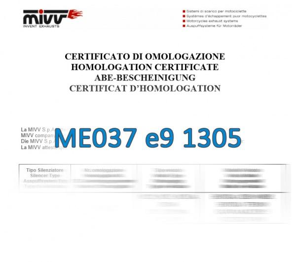 MIVV ABE Zulassung ME037 e9 1305