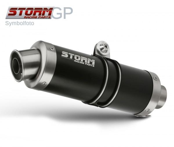 STORM GP Schwarz Kawasaki Z 800 E Auspuff 2013 bis 2016