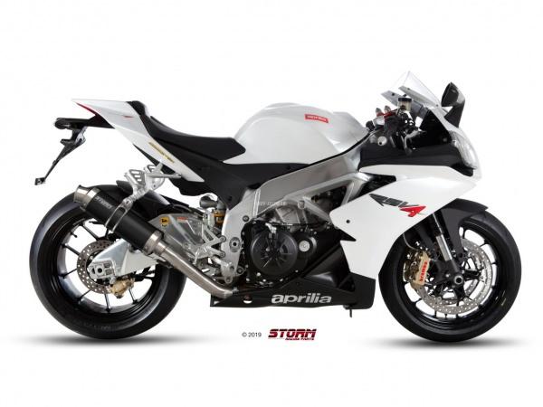 STORM GP Schwarz Aprilia RSV4 Auspuff 2009 bis 2016