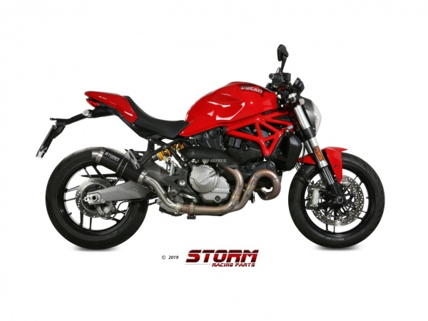 STORM GP Schwarz Ducati MONSTER 1200 Auspuff ab 2017