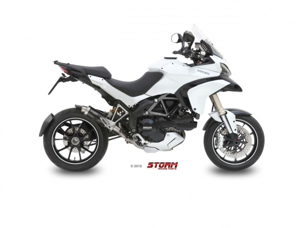 STORM GP Schwarz Ducati MULTISTRADA 1200 Auspuff 2010 bis 2014