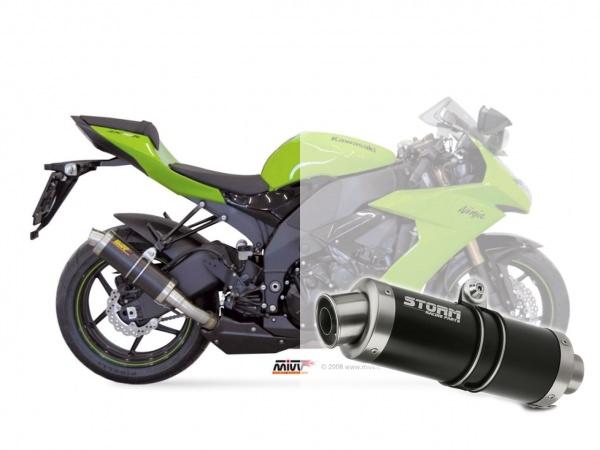 STORM GP Schwarz Kawasaki ZX-10 R Auspuff 2008 bis 2010