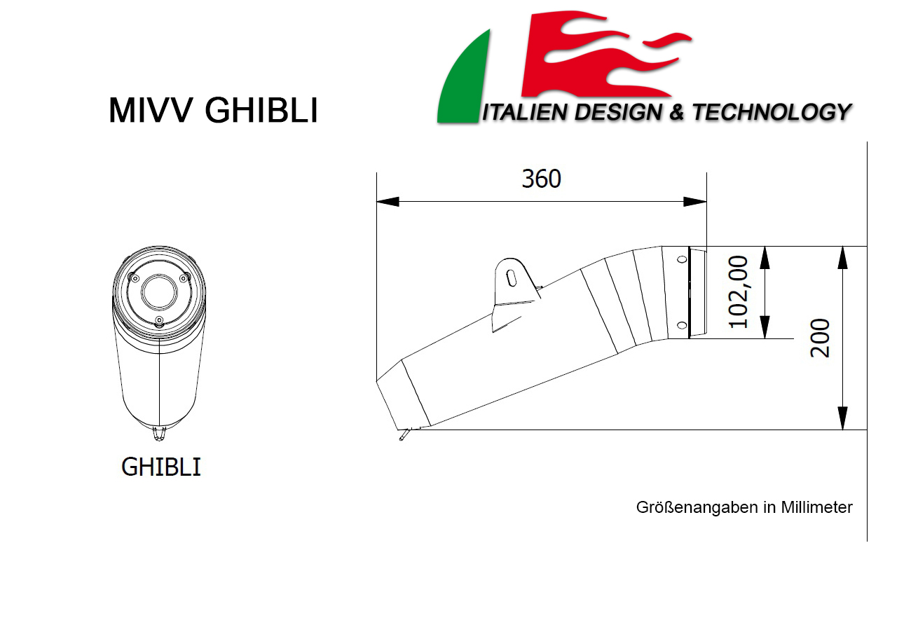 MIVV Yamaha Ghibli T-MAX 500 Auspuff ab 2006 bis 2011
