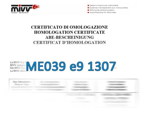 MIVV ABE Me039 e9 1307 Zulassung