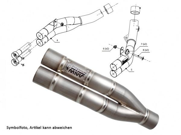 MIVV Kawasaki Auspuff Double Gun Z 1000 ab 2010 bis 2013