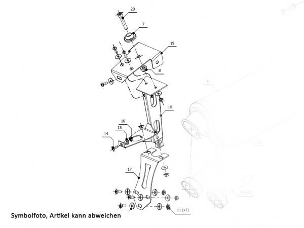 MIVV Ducati Kennzeichenhalter MONSTER 900 ab 1993 bis 1998