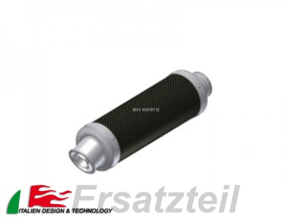 MIVV Runder Endschalldämpfer Carbon - Ø55 Anschluss