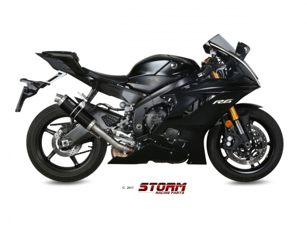 STORM GP Schwarz Yamaha YZF 600 R6 Auspuff High-Up ab 2017