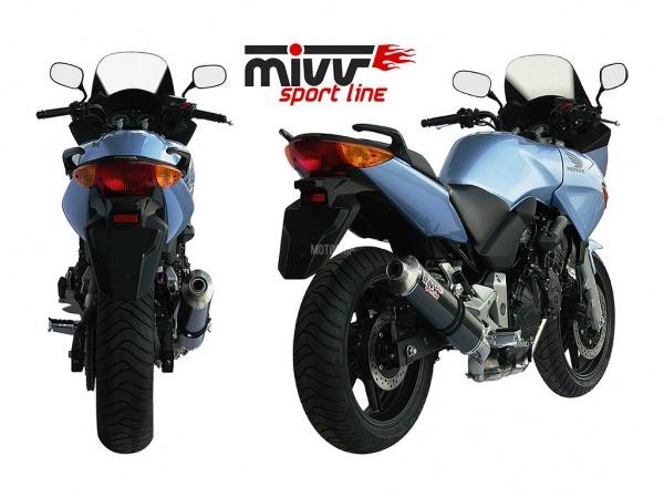 MIVV Honda Auspuff Oval CBF 600 ab 2004 bis 2010