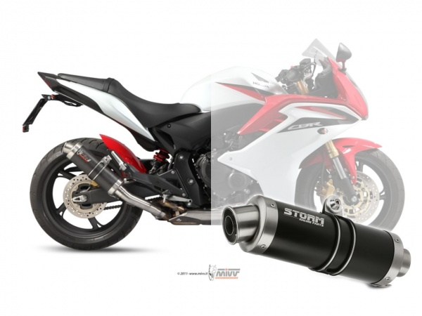 STORM GP Schwarz Honda HORNET 600 Auspuff 2007 bis 2013