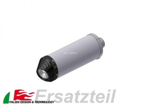 MIVV Oval Endschalldämpfer Titan – Carbon Endkappe Vertikal Länge 400 mm