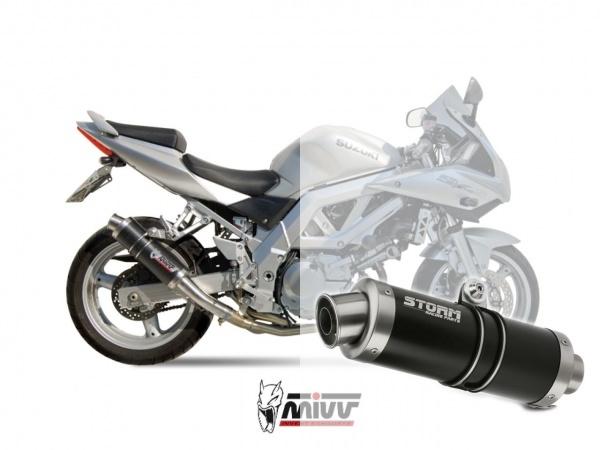 STORM GP Schwarz Suzuki SV 650 Auspuff 2003 bis 2003