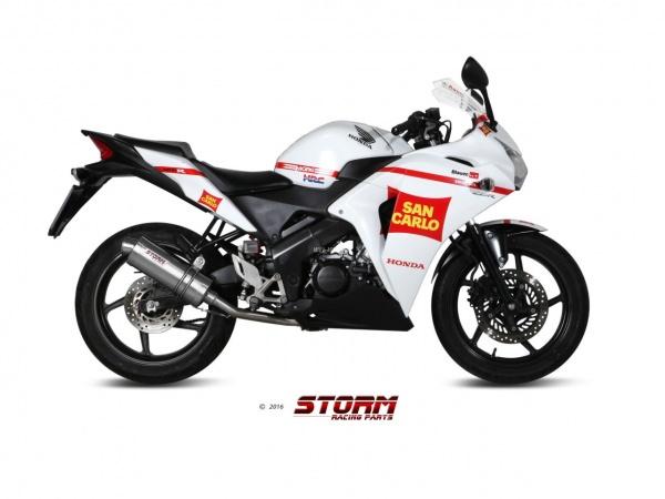 STORM Oval Honda CBR 125 R Auspuff 2011 bis 2016