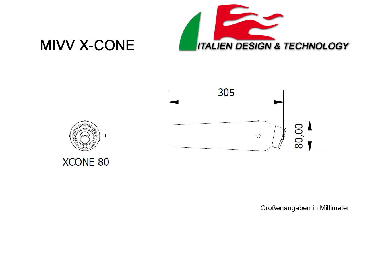 MIVV Ducati X-Cone MONSTER S2R 800 Auspuff ab 2003