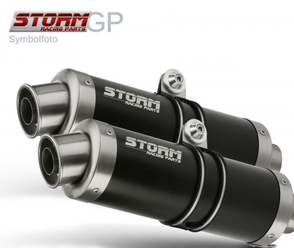 STORM GP Schwarz Ducati MONSTER 796 Auspuff 2010 bis 2014