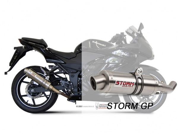 STORM GP Kawasaki NINJA 250R Auspuff 2008 bis 2013