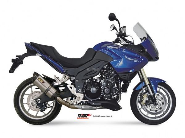 MIVV Triumph Auspuff Suono Tiefgelegt TIGER 1050 ab 2007 bis 2013