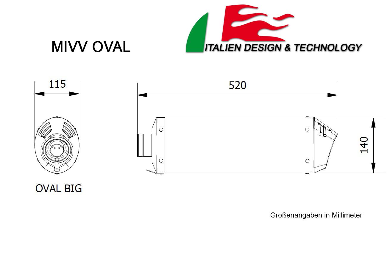 MIVV KTM Oval EXC 450 F Auspuff ab 2012