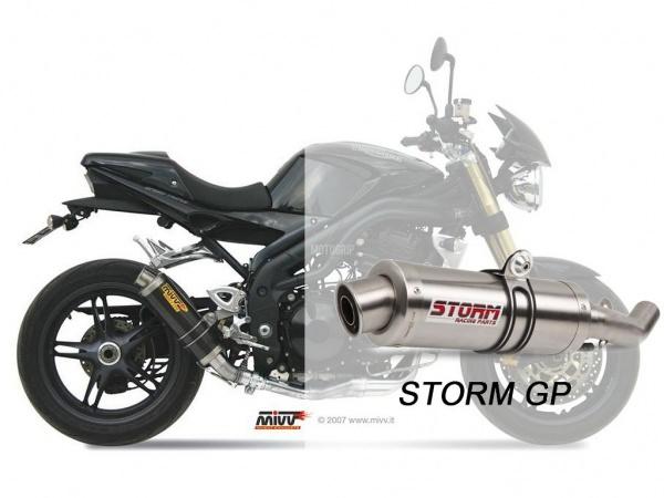 STORM GP Triumph SPEED TRIPLE Auspuff tiefgelegt 2005 bis 2006