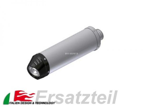 MIVV Oval Endschalldämpfer Titan – Carbon Endkappe Vertikal Länge 390 mm