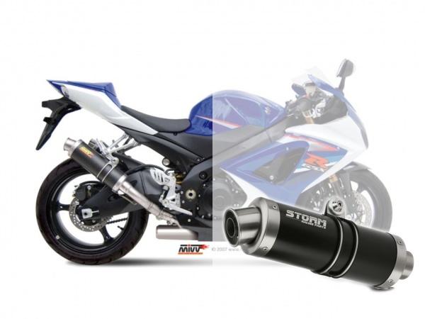 STORM GP Schwarz Suzuki GSX-R 1000 Auspuff 2007 bis 2008