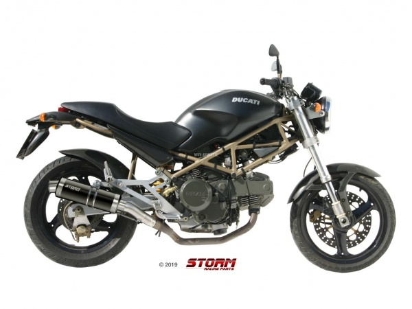 STORM GP Schwarz Ducati MONSTER 600 Auspuff 1999 bis 2001