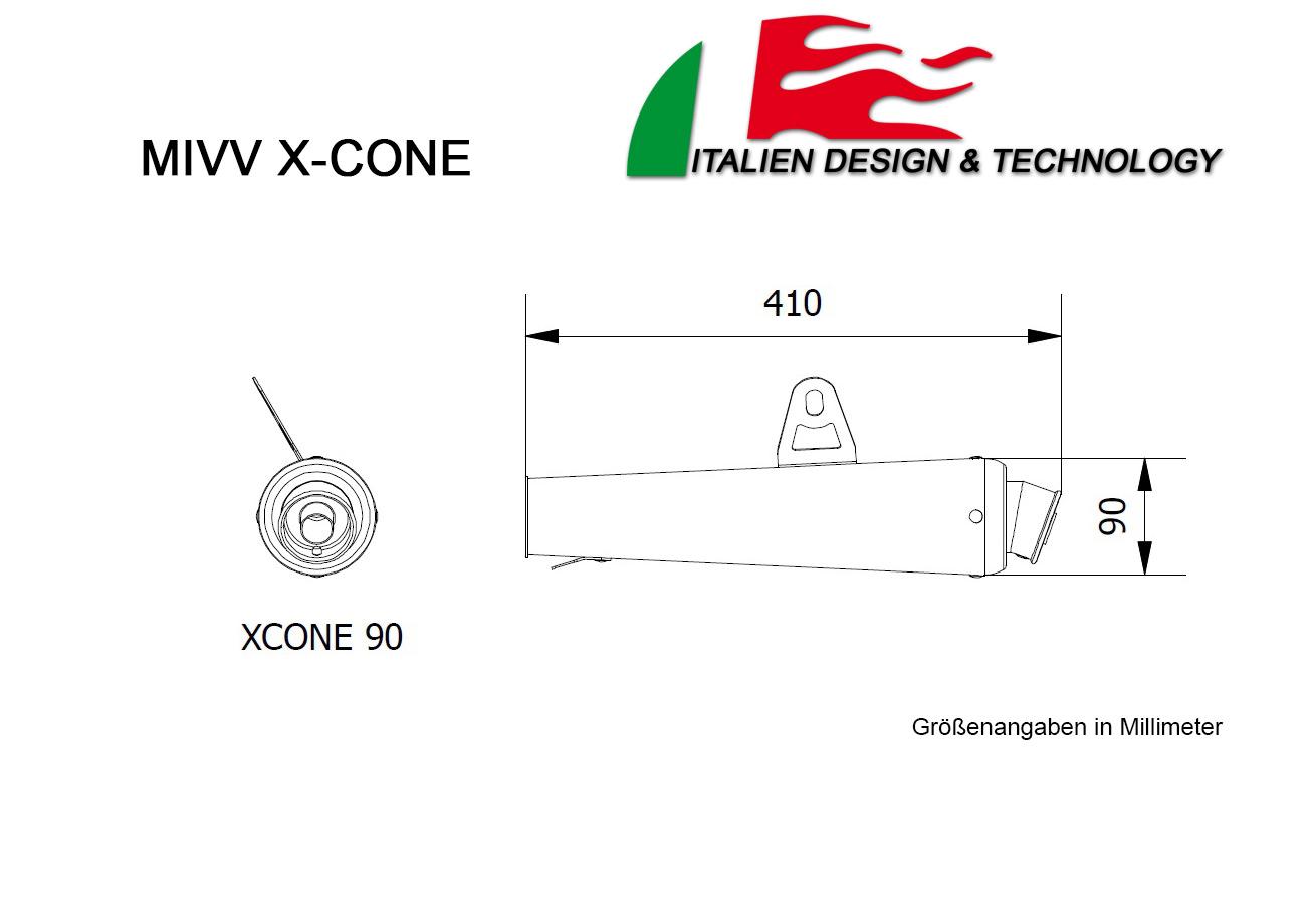 MIVV Triumph X-Cone SPEED TRIPLE Auspuff ab 2005 bis 2006