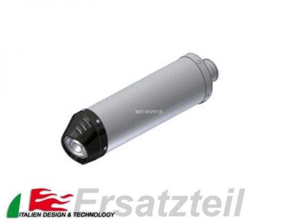 MIVV Oval Endschalldämpfer Kurz Edelstahl - Carbon Endkappe Vertikal Länge 390 mm