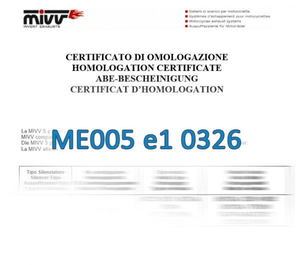MIVV Zulassung ABE ME005 e1 0326