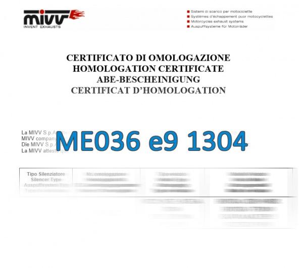 MIVV ABE Zulassung ME036 E9 1304