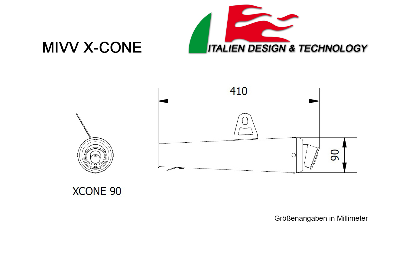 MIVV Honda X-Cone CBR 600 F Auspuff ab 2007