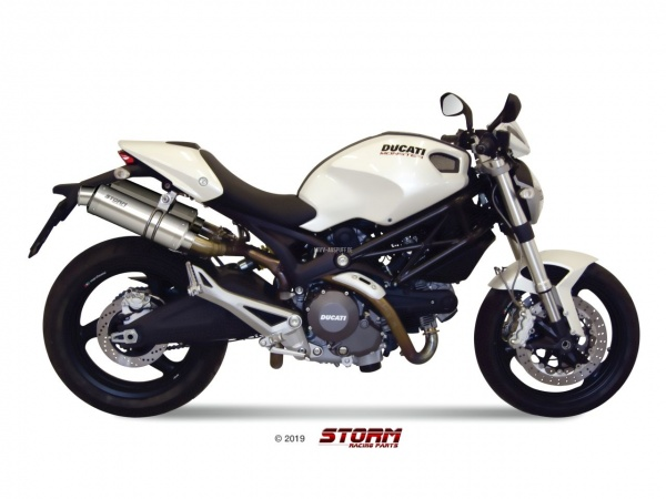 STORM GP Ducati MONSTER 696 Auspuff 2008 bis 2014