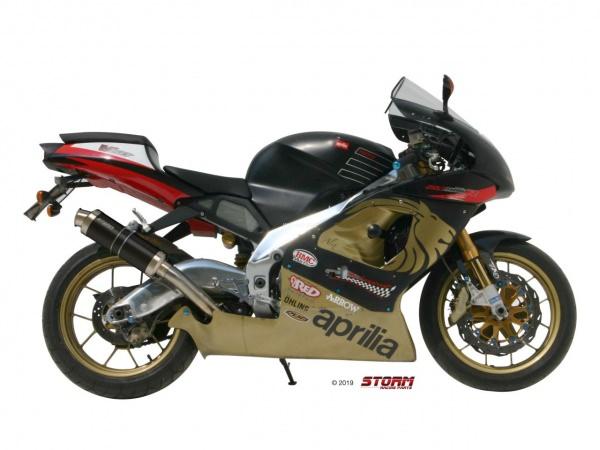 STORM GP Schwarz Aprilia RSV 1000 Auspuff 1998 bis 2003