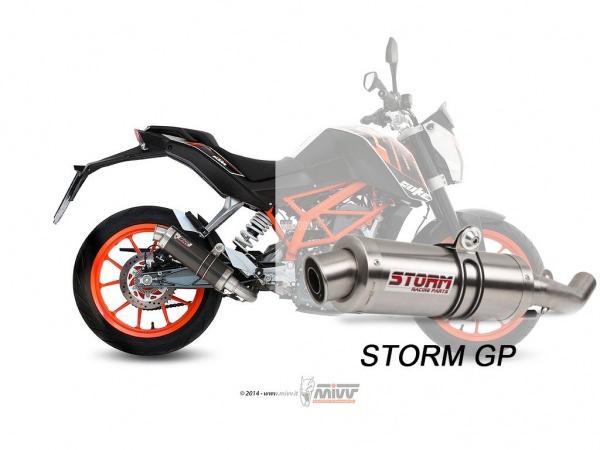 STORM GP KTM 390 DUKE Auspuff 2013 bis 2016