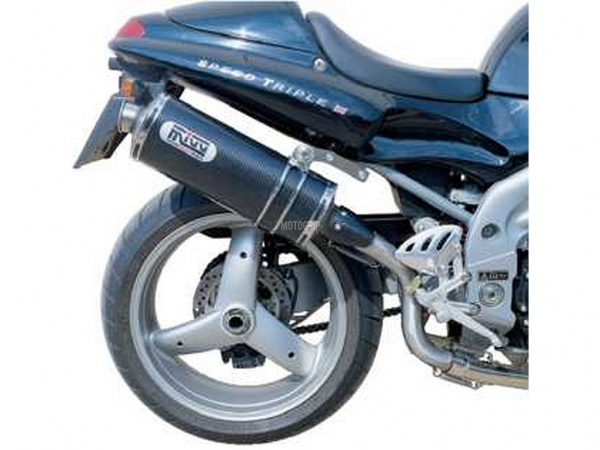 MIVV Triumph Auspuff Oval Highup SPEED TRIPLE ab 1998 bis 2001