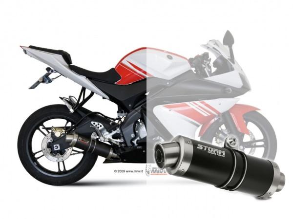 STORM GP Schwarz Yamaha YZF R125 Auspuff 2008 bis 2013