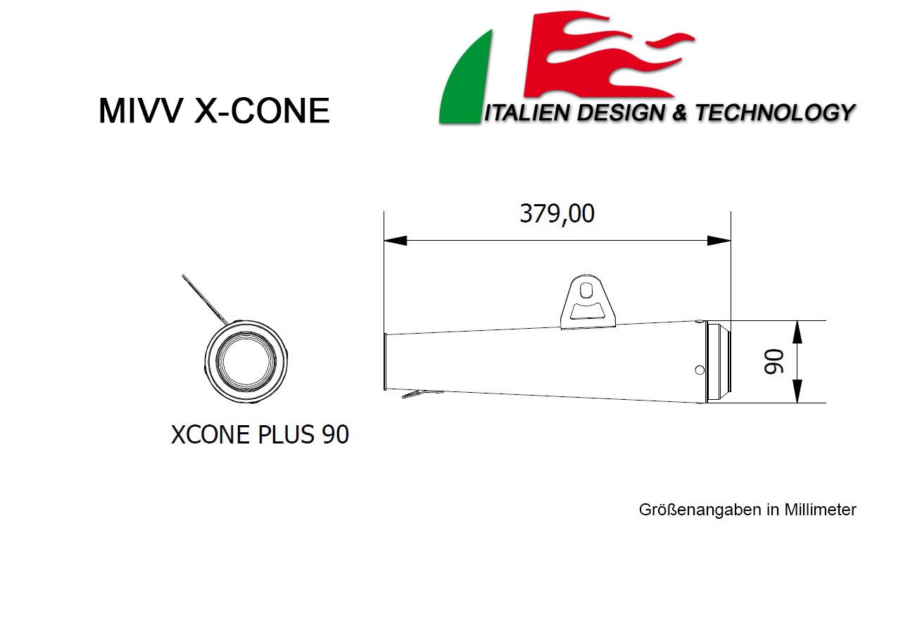 MIVV BMW X-Cone Highup R NINE T Auspuff ab 2000