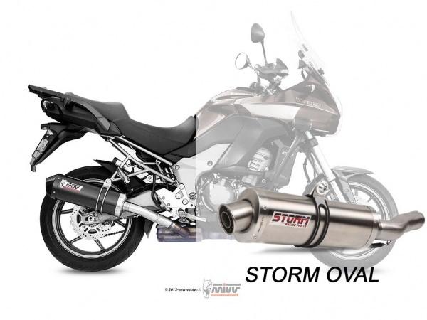 STORM Oval Kawasaki Versys 1000 Auspuff 2012 bis 2014