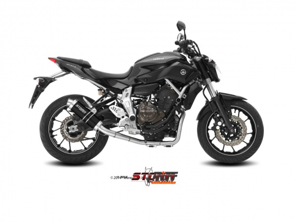 STORM GP Schwarz Yamaha MT-07 Auspuff High-Up ab 2014