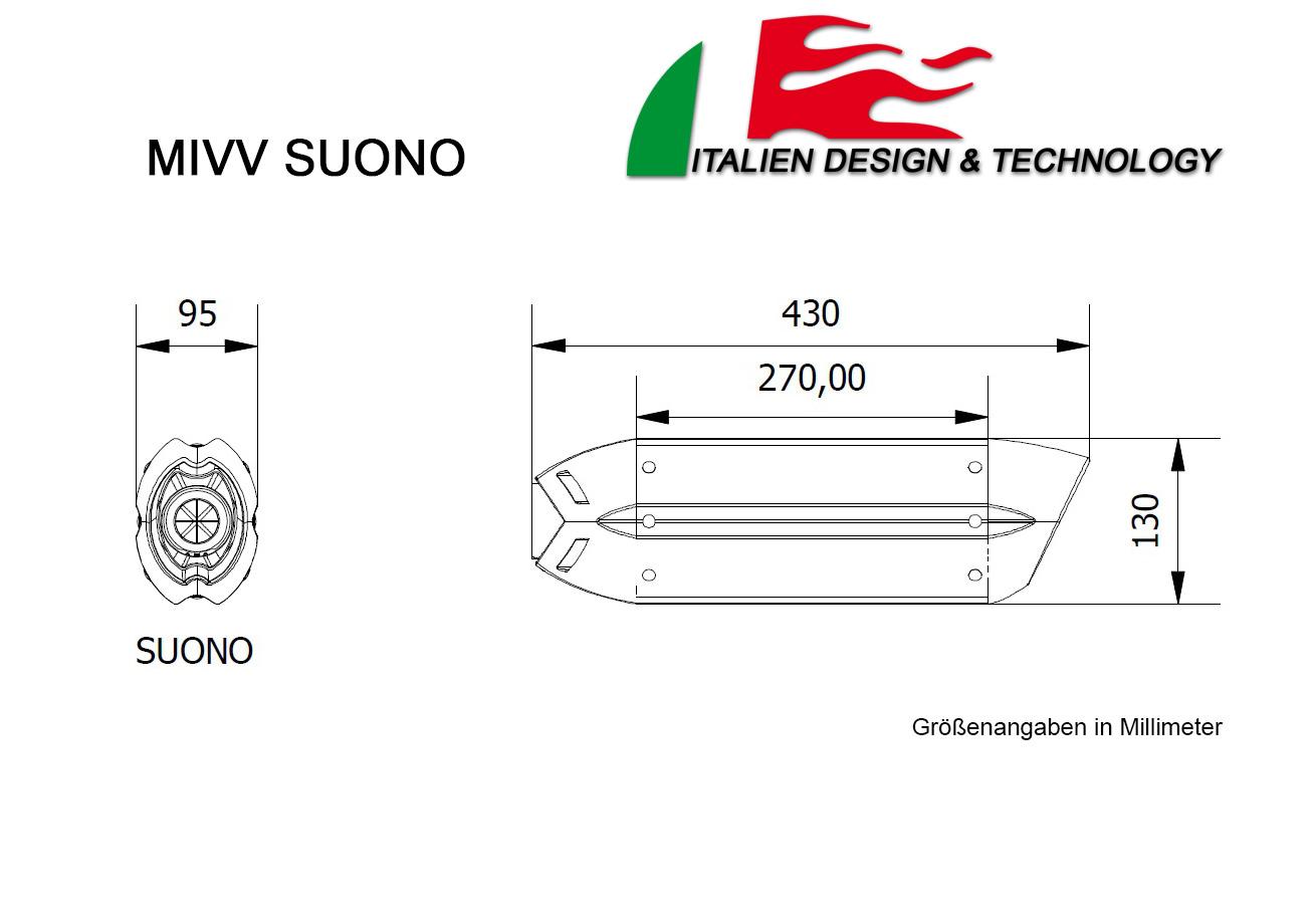 MIVV Yamaha Suono MT-125 Auspuff ab 2014