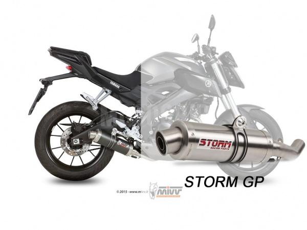 STORM GP Yamaha YZF R125 Auspuff 2014 bis 2018