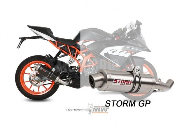 STORM GP KTM RC 125 Auspuff 2014 bis 2016