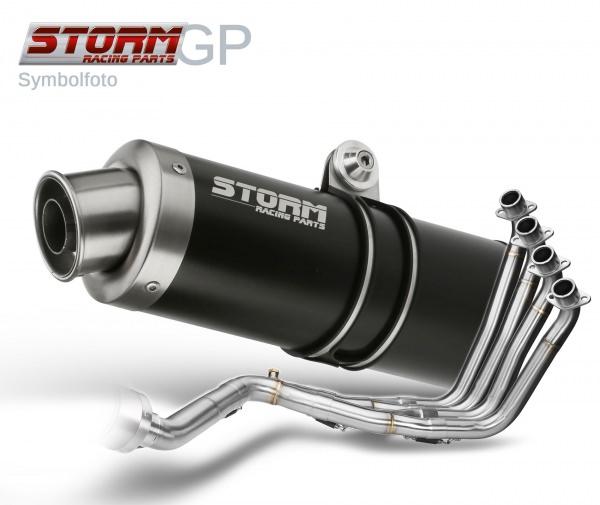 STORM GP Schwarz KTM 125 DUKE Auspuff 2011 bis 2016