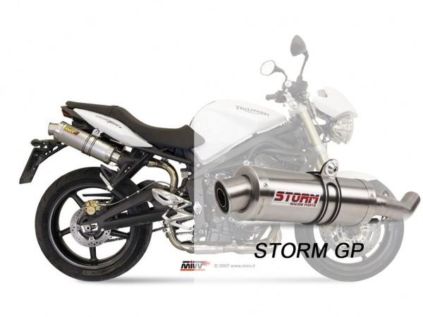 STORM GP Triumph STREET TRIPLE Auspuff 2007 bis 2012