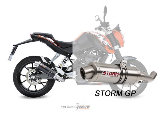 STORM Auspuff KTM 200 DUKE GP ab 2012