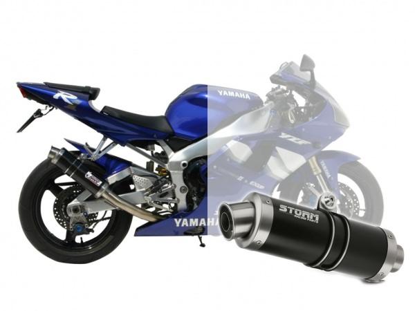 STORM GP Schwarz Yamaha YZF 1000 R1 Auspuff 1998 bis 2001