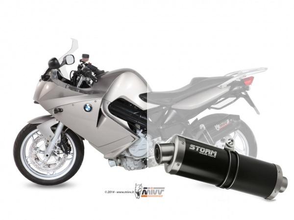STORM Oval Schwarz BMW F 800 S / ST Auspuff 2006 bis 2012