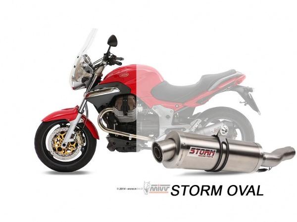 STORM Oval Moto Guzzi BREVA 1100 Auspuff 2005 bis 2011
