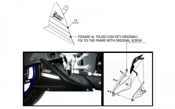 Yamaha R3 MIVV Abdeckblech Alu 50.CR.028.0